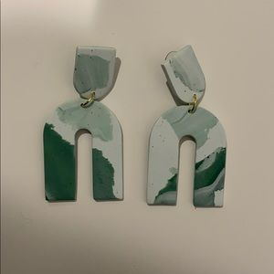 boutique brand clay earrings